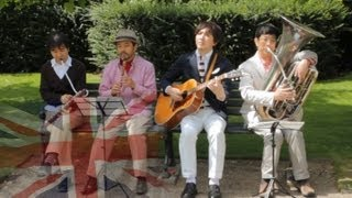 getlinkyoutube.com-Kuricorder Quartet in London - Japanese folk band's first UK tour