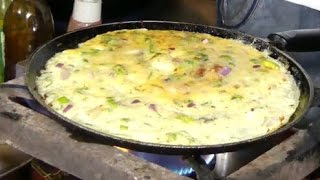 WORLD NO 1 Double Eggs Omelet | Mouthwatering Omelet | Street Food | Street Omelet |