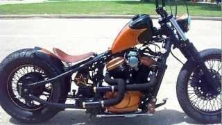 getlinkyoutube.com-Houston Retro Bobbers Sick Copper Chopper Walk Around