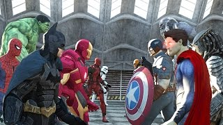 getlinkyoutube.com-Batman vs Superman vs Captain America vs Ironman vs Hulk vs Deadpool vs Spiderman vs Goku