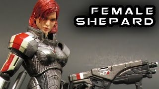 getlinkyoutube.com-Play Arts Kai FEMALE SHEPARD Mass Effect 3 Figure Review