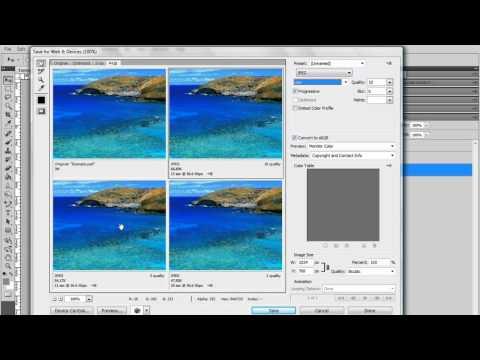 Aprenda a usar o Photoshop CS5 - Aula 17 - Salvando imagens para Web