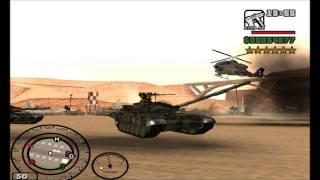 getlinkyoutube.com-GTA San Andreas - 5pb Steal Russian T-90 Tank