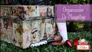 getlinkyoutube.com-Organizador De Maquillaje Estilo Vintage!! Fácil y Hermoso!!