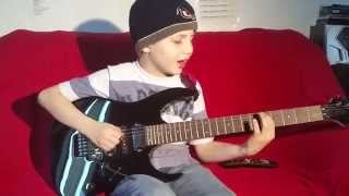 "Dustin Tomsen 9 years old covers Gary Moore ""The Loner"""