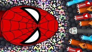 getlinkyoutube.com-BIGGEST SLITHER.IO SNAKE EVER...!?!?! Spider-Man: Homecoming Official SNAKE TOP PLAYER GAMEPLAY!