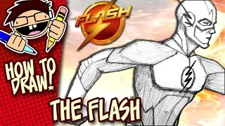How to Draw THE FLASH (The CW TV Series) Easy Step-by-Step Tutorial