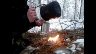 getlinkyoutube.com-Bushcraft: Minimal Kit Winter Survival