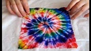 getlinkyoutube.com-Видео мастер-класс по узелковому батику узор «спираль» tie-dye DIY