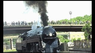 getlinkyoutube.com-611 Locomotive Steam Train Arriving In Roanoke Virginia