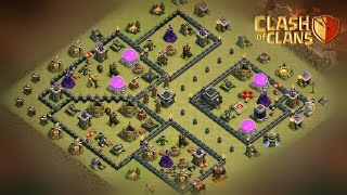 "getlinkyoutube.com-How To 3 STARS this Popular ""(TH9 ANTI HGHB + GOVAHO)"" WAR BASE 