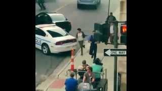 getlinkyoutube.com-Ben Affleck spotted filming Batman v Superman Detroit  loop