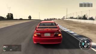 getlinkyoutube.com-Project CARS - PlayStation 4 - Mitsubishi Evo VI hot-lap on Laguna Seca