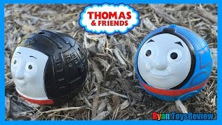 getlinkyoutube.com-Thomas and Friends Toy Trains Playset Rail Rollers Spiral Station Unboxing playtime Ryan ToysReview