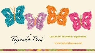 getlinkyoutube.com-Mariposas en crochet / English subtitles: crochet butterfly