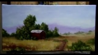 getlinkyoutube.com-How To Paint A Country Side, Farm Land - Acrylic Painting Lessons by Brandon Schaefer