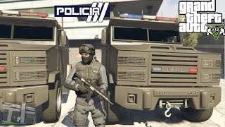 getlinkyoutube.com-GTA V - PoliceMod 1.0c: SWAT/NOOSE - Operações com blindado