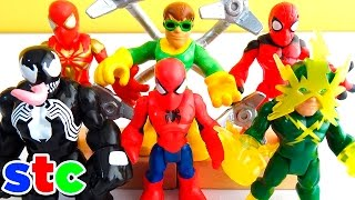 getlinkyoutube.com-Super Hero Adventures Venom Iron-Spider Electro y Octopus