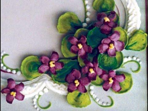 Buttercream Flowers--Violets & Spring Blossoms