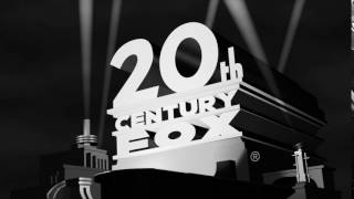 20th Century Fox (1981-1994) logo in black-and-white with 1935 music