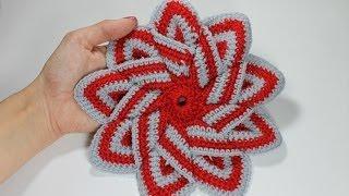 getlinkyoutube.com-Уроки вязания крючком - подставка под горячее