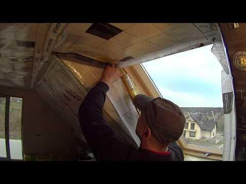 Zabudowa okna połaciowego cz.2 - paroizolacja łączenie z oknem.