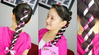 getlinkyoutube.com-Trenza Irregular de 4 Divisiones! - Uneven/Loony Braid! | Chikas Chic