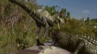 getlinkyoutube.com-Albertosaurus, Deinosuchus and T-Rex.