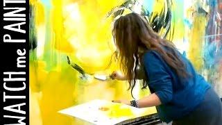 getlinkyoutube.com-Abstract acrylic painting - peinture abstrait - abstrakte Malerei by zAcheR-finet
