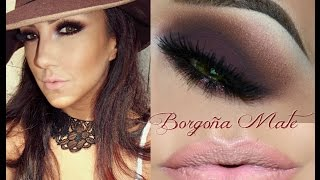 getlinkyoutube.com-Look Borgoña Mate tutorial