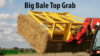 Stronga Big Bale Top Grab 150 attachment - Extending efficiency in bale handling