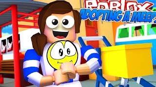 Roblox Meep City   LITTLE CARLY ADOPTS A BABY!!