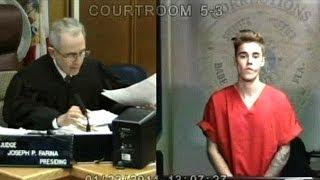 getlinkyoutube.com-Justin Bieber Keeps It Cool In Court After Getting Arrested