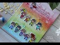 Mama Elephant | Tri Window Rainbow Little Girl and Boy Agenda