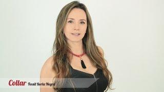 getlinkyoutube.com-Aprende cómo hacer un Collar fossil rojo borla negra Kit 28161