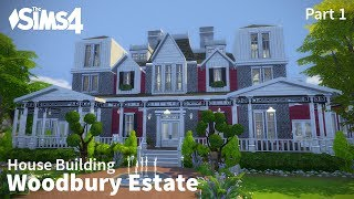 getlinkyoutube.com-The Sims 4 House Building - Woodbury Estate - Part 1 of 2