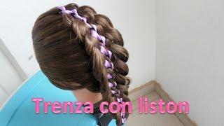 getlinkyoutube.com-Peinados con trenzas/Trenza con liston 1/Trenzas paso a paso
