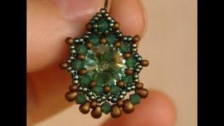 getlinkyoutube.com-Sidonia's handmade jewelry - Baroque earrings (12mm rivoli bezel)