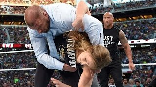 getlinkyoutube.com-The Rock & Ronda Rousey Destroy Triple H & Stephanie McMahon