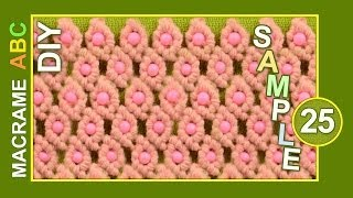 Macrame ABC - pattern sample #25 with Beads