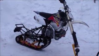 Гусеница Питбайк 2016  Pitbike snow winter 2016