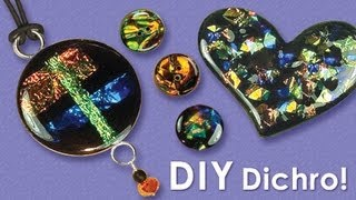 getlinkyoutube.com-Little Windows - how to make Dichro Resin Jewelry