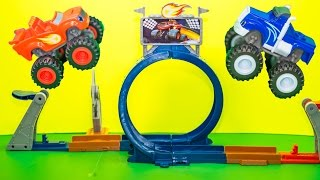 BLAZE AND THE MONSTER MACHINES Nickelodeon Blaze Monster Dome Toys Video Unboxing