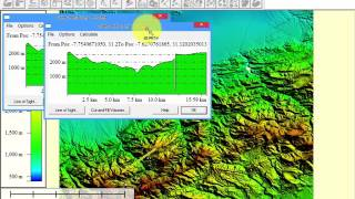 getlinkyoutube.com-Extraction d'un profil topographique a l'aide de global mapper