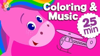 getlinkyoutube.com-Learning Colors For Kids - Pink | Coloring and Music for Children | Rainbow Horse | BabyFirst