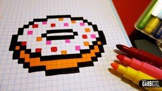 getlinkyoutube.com-Handmade Pixel Art - How To Draw a Kawaii Donut by Garbi KW #pixelart