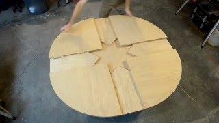 getlinkyoutube.com-Wooden Expanding Table