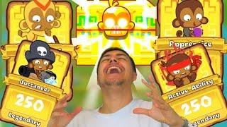 getlinkyoutube.com-30 MONKEY KNOWLEDGE PACKS! - LEGENDARY CARD HUNT! - Bloons Tower Defense Monkey City