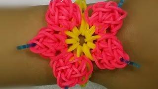 getlinkyoutube.com-رينبو لوم كيفية عمل وردة مع إسوارة Rainbow Loom
