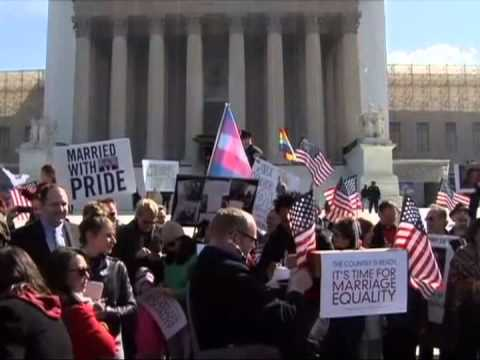 Same-sex couple talks about gay marriage